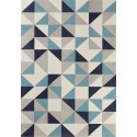Scandinavian style carpet white with blue shade