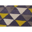 Gray and yellow carpet, Scandinavian style triangle pattern