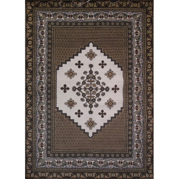 Tapis salon oriental marron