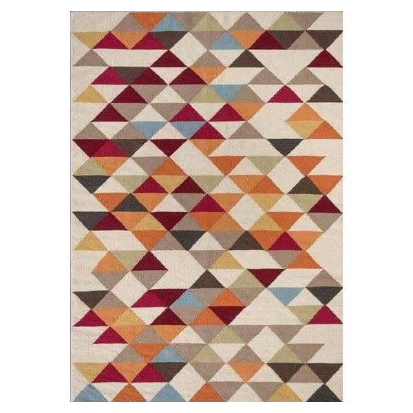 Tapis scandinave triangle multicolore