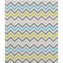 Scandinavian sky blue zigzag rug
