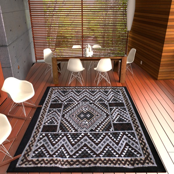 Tapis Margoom Traditionnel Noir