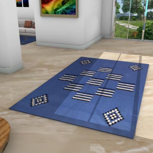 Tapis kilim margoum bleu