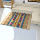 Tapis beige avec des motifs coloré