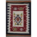 Kilim carpets gray with pattern in pink
