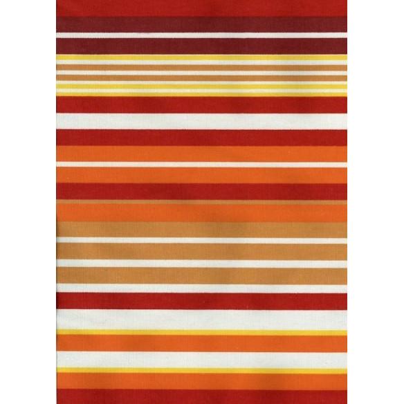 Orange striped kilim rug