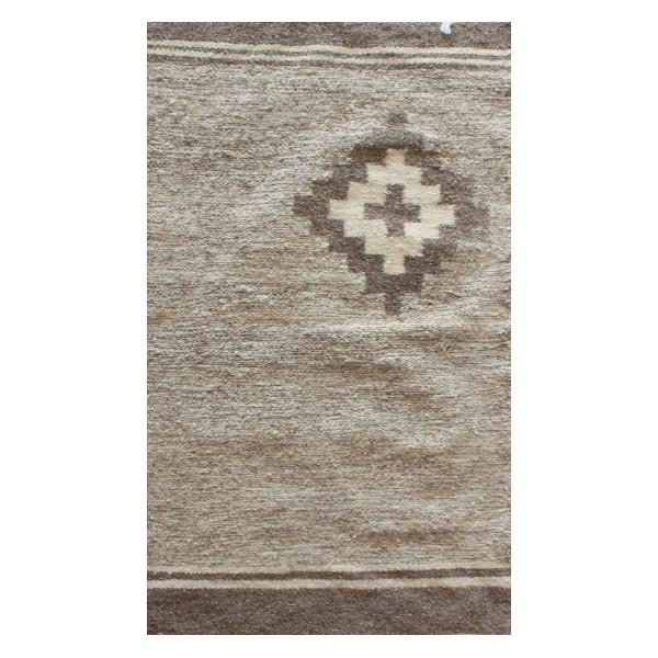 Mixed brown kilim rug