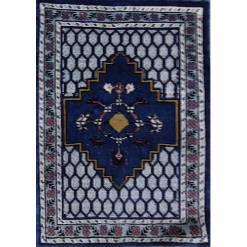 Tapis artisanal motif bleu