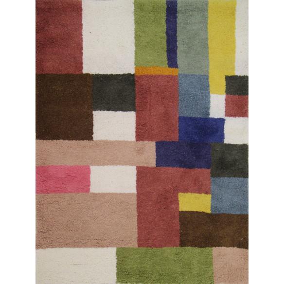 Tapis berbère patchwork coloré