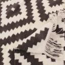 Tapis scandinave gris et blanc