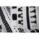 tapis kilim traditionnel noir et blanc