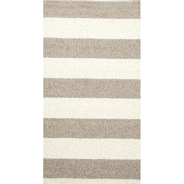 Chic and beige striped kilim rug