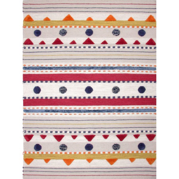 Multicolored wool kilim rug